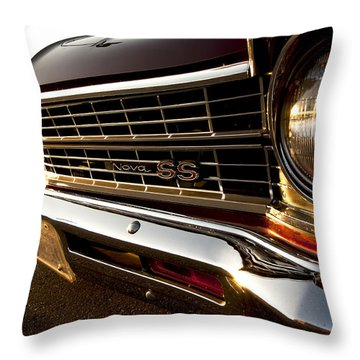 Chevy Nova Ss Throw Pillow by Cale Best