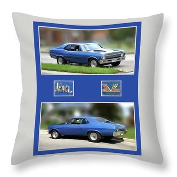 Chevy Nova Vertical  Throw Pillow