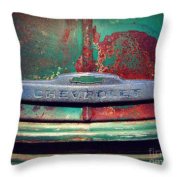 Chevy Rust Throw Pillow by Perry Webster