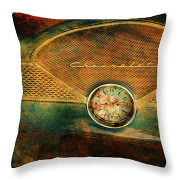 Chevy Time Throw Pillow by Greg Sharpe