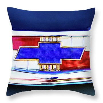Chevy's Fifties Bowtie Throw Pillow