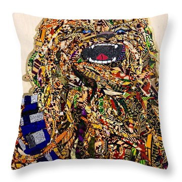Chewbacca Star Wars Awakens Afrofuturist Collection Throw Pillow