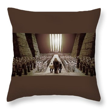 Chewbacca's March To Disappointment Throw Pillow by Kurt Ramschissel