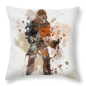 Chewie Throw Pillow by Rebecca Jenkins