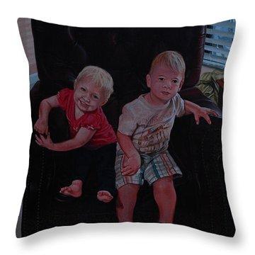 Cheyenne And Kai Throw Pillow by Michael Nowak