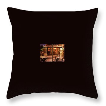 Chez Tim Throw Pillow by Julie Todd-Cundiff