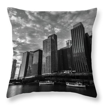 Chi Sunrise Black And White Throw Pillow
