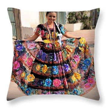 Chiapaneca Dress Throw Pillow