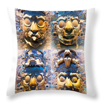 Chiapas Elders Throw Pillow