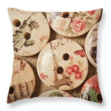Chic Button Boutique Throw Pillow