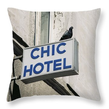 Chic Hotel Throw Pillow