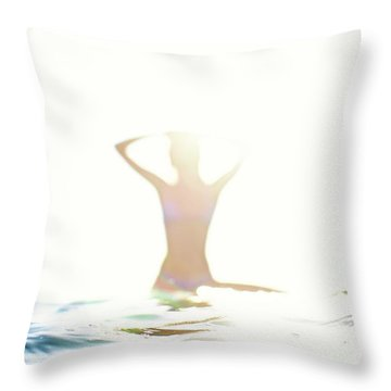 Chica Agua Throw Pillow