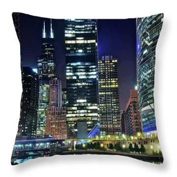Chicago Towers 2017  Throw Pillow