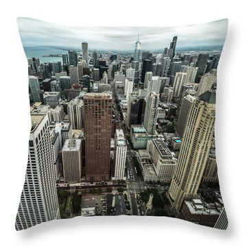 Chicago Aerial Throw Pillow