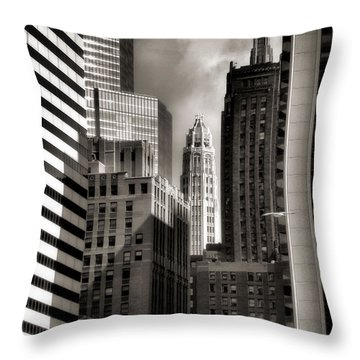Chicago Architecture - 13 Throw Pillow by Ely Arsha