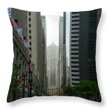 Chicago Architecture - 17 Throw Pillow by Ely Arsha