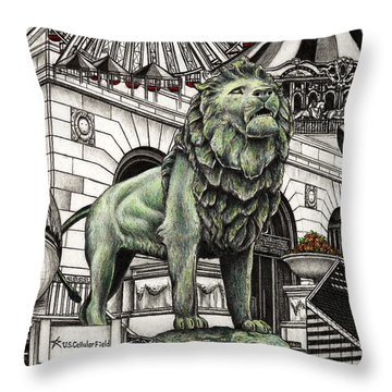 Chicago Art Institute Lion Throw Pillow