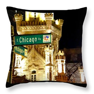 Chicago Avenue  Throw Pillow