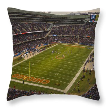 Chicago Bears Soldier Field 7795 Throw Pillow