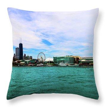 Chicago Blue Throw Pillow