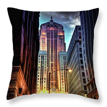 Chicago Board Of Trade Throw Pillow