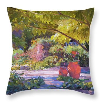 Chicago Botanic Garden Throw Pillow