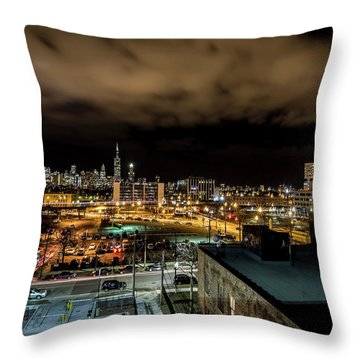 Chicago City And Skyline Throw Pillow