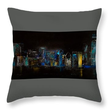 Chicago City Scene Throw Pillow