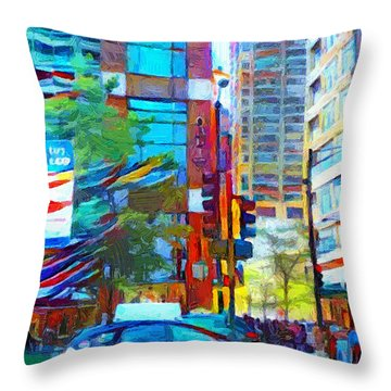Chicago Colors 1 Throw Pillow