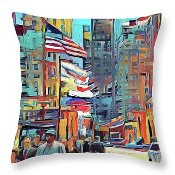 Chicago Colors 5 Throw Pillow