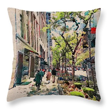 Chicago Colors 6 Throw Pillow