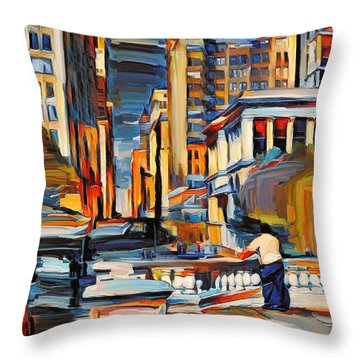 Chicago Colors 7 Throw Pillow