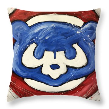 Chicago Cubs Throw Pillow by Elliott From