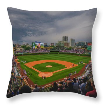 Chicago Cubs Wrigley Field 4 8213 Throw Pillow