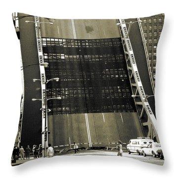 Old Chicago Draw Bridge - Vintage Photo Art Print Throw Pillow