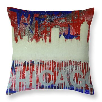 Chicago Drip Throw Pillow