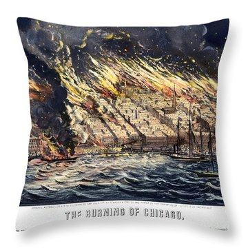Chicago: Fire, 1871 Throw Pillow