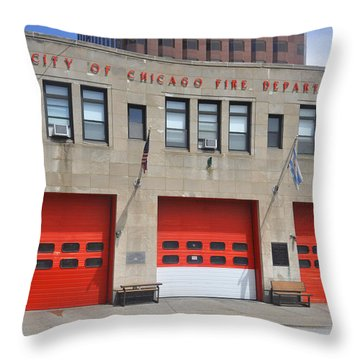 Chicago Fire Throw Pillow