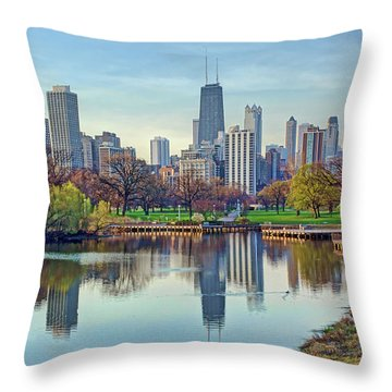Chicago From Lincoln Park Throw Pillow