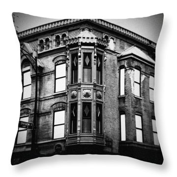 Chicago Historic Corner Throw Pillow