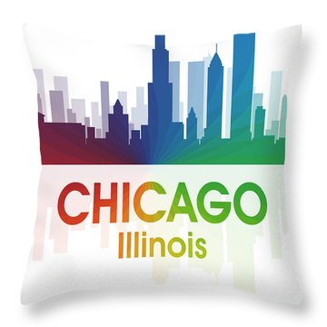 Chicago Il Throw Pillow by Angelina Vick