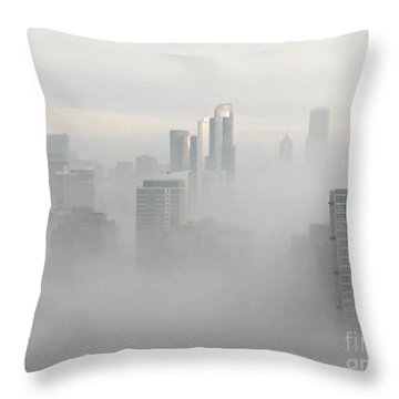 Chicago In The Clouds Throw Pillow