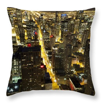 Chicago Is Always Alive Throw Pillow by Shawn Everhart