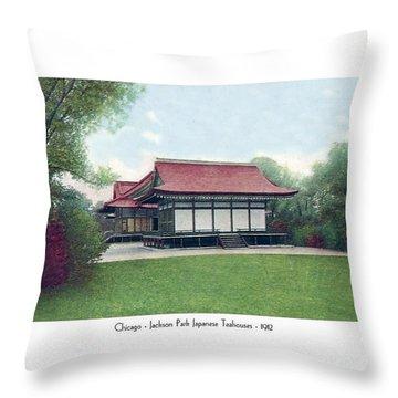 Chicago - Japanese Tea Houses - Jackson Park - 1912 Throw Pillow