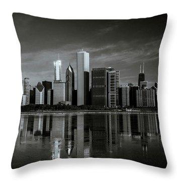 Chicago Lake Front Throw Pillow