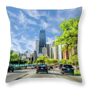 Chicago Lake Shore Drive Throw Pillow