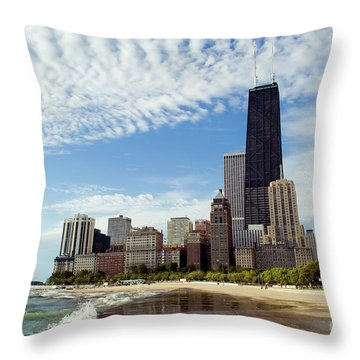 Chicago Lakefront Skyline Throw Pillow