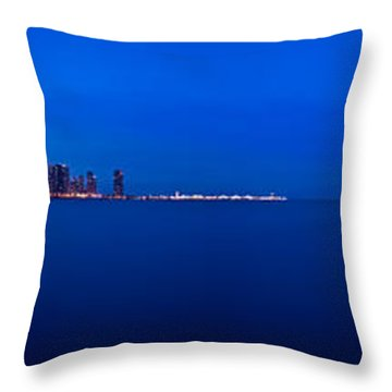 Chicago Lakefront Ultra Wide Hd Throw Pillow by Steve Gadomski