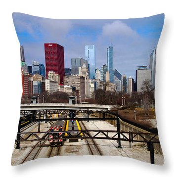 Chicago Metro Throw Pillow