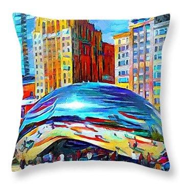 Chicago Millennium  Throw Pillow